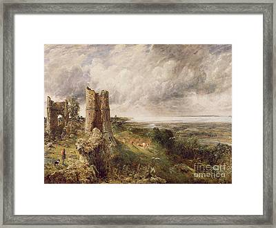 Hadleigh Castle Framed Print by John Constable