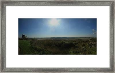 Hadleigh Castle Panarama Framed Print by David French
