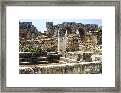 Hadrianic Baths In Aphrodisias Framed Print by Bob Phillips