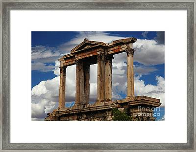 Arch Of Hadrian Athens Framed Print by Bob Christopher