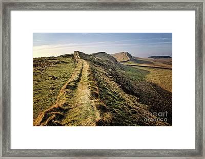 Hadrians Wall Framed Print by Nichola Denny