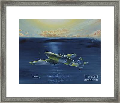 Haf Museums Spitfire Mk.9 Framed Print by Georgios Moris