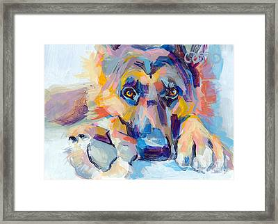 Hagen Framed Print by Kimberly Santini