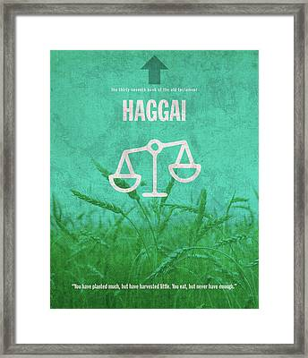 Haggai Books Of The Bible Series Old Testament Minimal Poster Art Number 37 Framed Print