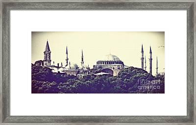 Hagia Sophia Panorama Framed Print by Sarah Loft
