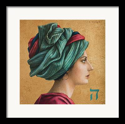 Turban Mixed Media Framed Prints