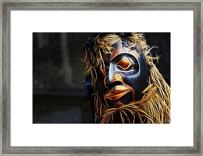 Framed Print featuring the photograph Haida Head by Cameron Wood