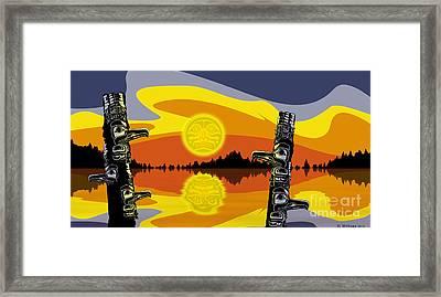 Haida Sunset Framed Print by Christopher Williams