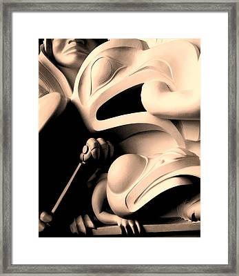Haida Two Framed Print by Ian  MacDonald