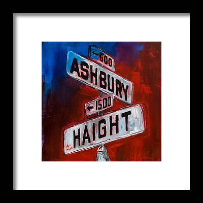 Haight Ashbury Framed Prints