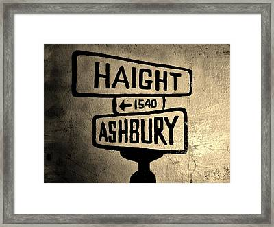 Haight Ashbury Framed Print