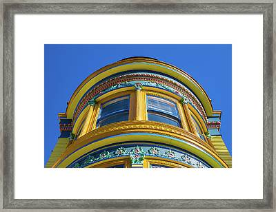 Haight Ashbury Painted Victorian Framed Print