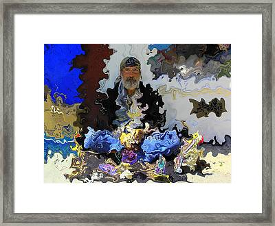 Haight Ashbury Street Vendor Framed Print by Jen White