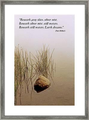 Haiku Poster Framed Print by Roger Soule