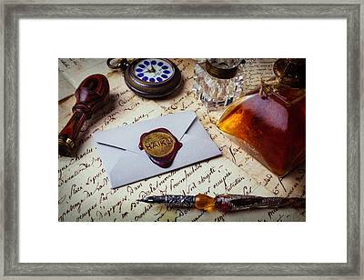 Haiku Wax Seal Framed Print by Garry Gay