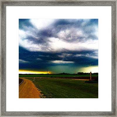 Hail Core Illuminated Framed Print