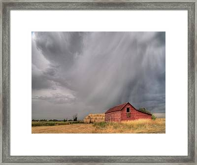 Hail Shaft And Montana Barn Framed Print
