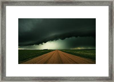 Hail Shaft Framed Print