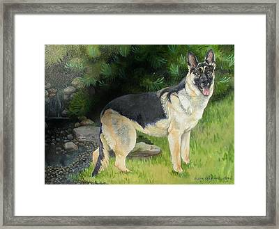 Hailey Framed Print by Eileen Hale