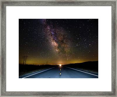 Hailing The Mother Ship Framed Print by Michele James
