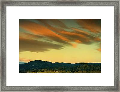 Framed Print featuring the photograph Hailing The Sky by John De Bord