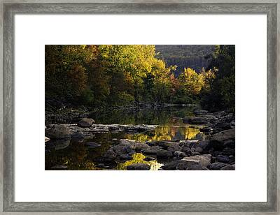 Hailstone Sunrise Fall Color 2012 Framed Print by Michael Dougherty