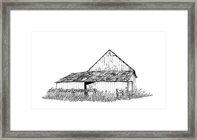 Haines Barn Framed Print by Virginia McLaren
