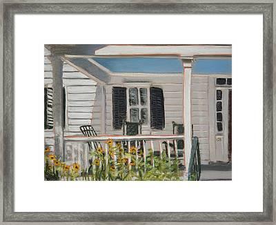 Haint Paint Framed Print by Christopher Reid