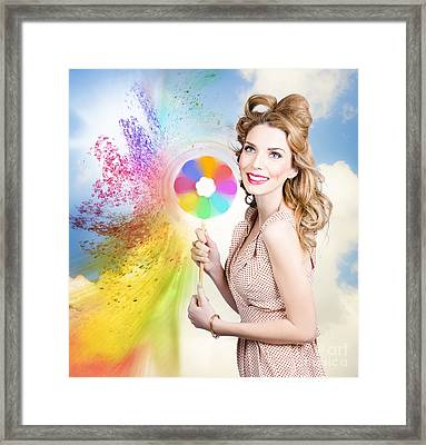 Hair And Makeup Coloring Concept Framed Print by Jorgo Photography - Wall Art Gallery