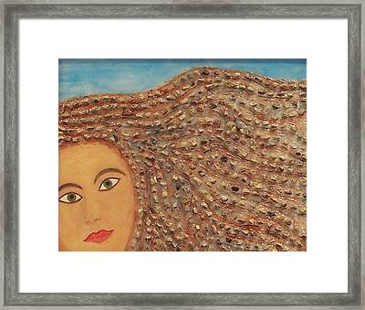 Hair Framed Print by Anneliese Fritts