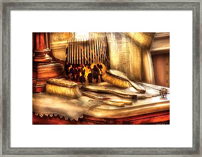 Hair Dresser - Implements  Of Hair Care  Framed Print by Mike Savad