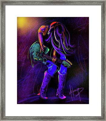 Hair Guitar Framed Print