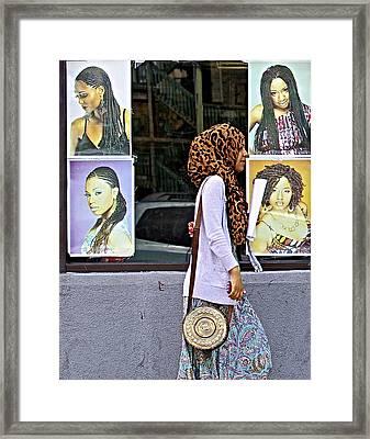 Hair Or Hijab Framed Print by Robert Frank Gabriel