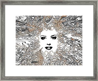 Hair Thair And Everywhair Mara Framed Print by Seth Weaver