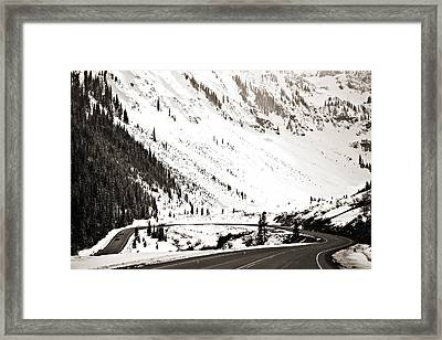Hairpin Turn Framed Print by Marilyn Hunt