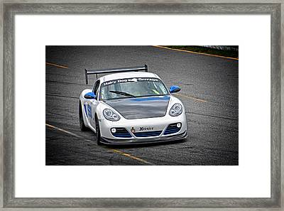 Hairy Dog Garrrage - Porsche - Pit Lane Framed Print by Mike Martin