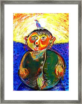 Hairy Man With Coucou Framed Print by Ion Danu