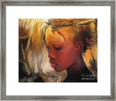 Haitian Beauty Framed Print