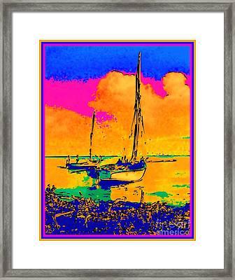Haitian Fishing Boats Framed Print by Diane E Berry