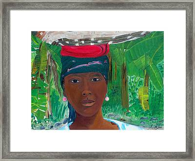 Haitian Woman   2 Framed Print by Nicole Jean-Louis