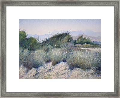 Hajar Mountains Oman 2002 Framed Print by Enver Larney