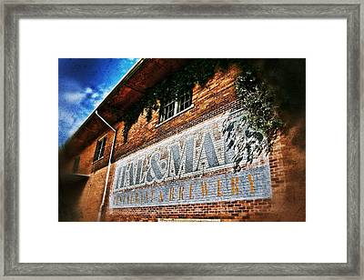 Hal And Mal's Sign Framed Print