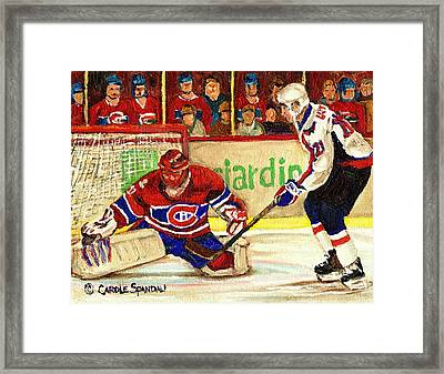 Halak Makes Another Save Framed Print by Carole Spandau