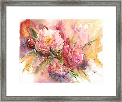 Framed Print featuring the painting Halal Yadah by Sandra Strohschein