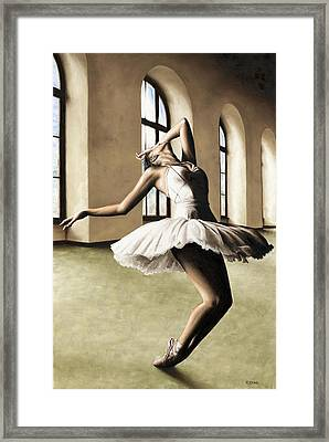 Halcyon Ballerina Framed Print by Richard Young