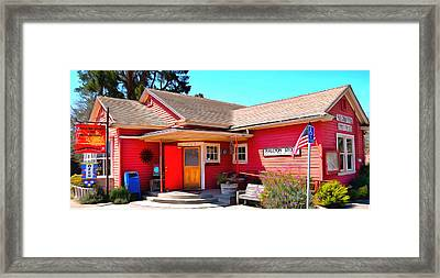 Halcyon Store Halcyon California Framed Print by Barbara Snyder