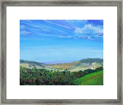 Haldon Hills Sea View Framed Print