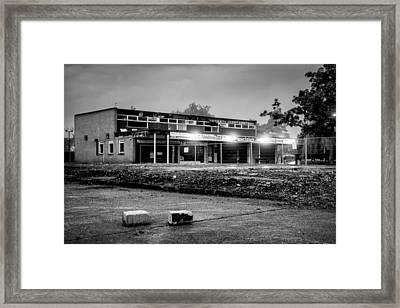 Hale Barns Square - Demolition In Progress Framed Print