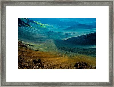 Framed Print featuring the photograph Haleakala by M G Whittingham