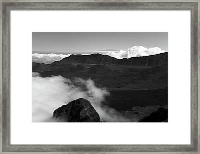 Haleakala B/w Framed Print by Jennifer Ancker